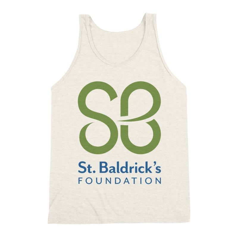 Stacked Logo Men's Triblend Tank by St Baldricks's Artist Shop