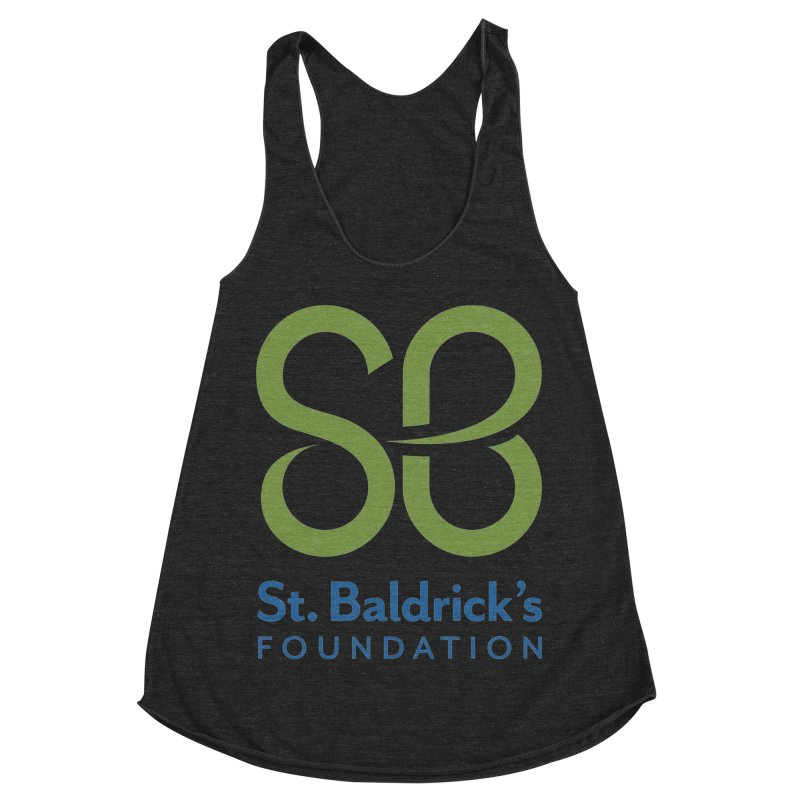 Stacked Logo Women's Racerback Triblend Tank by St Baldricks's Artist Shop