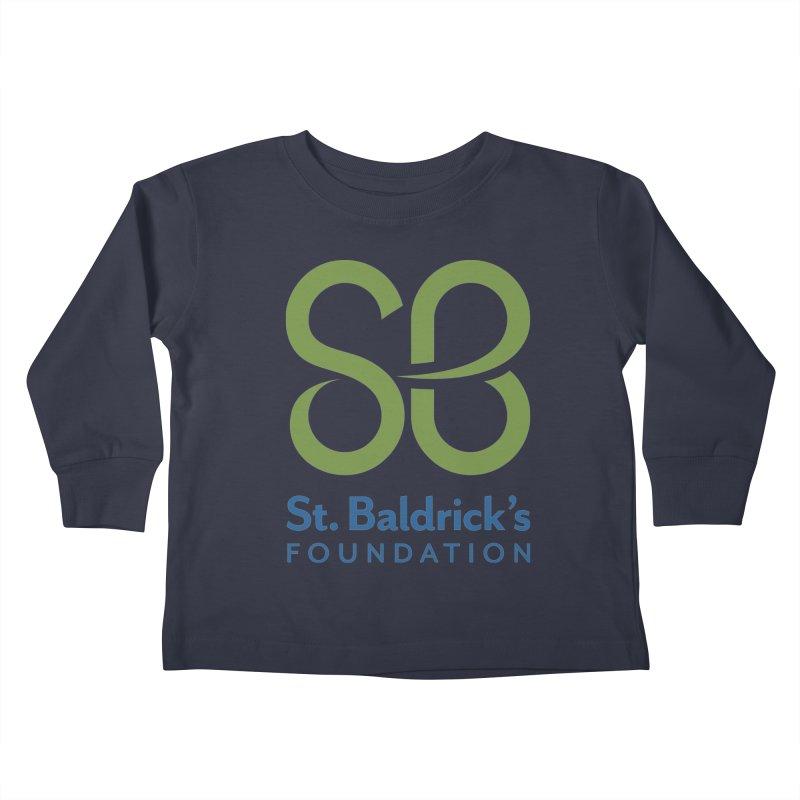 Stacked Logo Kids Toddler Longsleeve T-Shirt by St Baldricks's Artist Shop