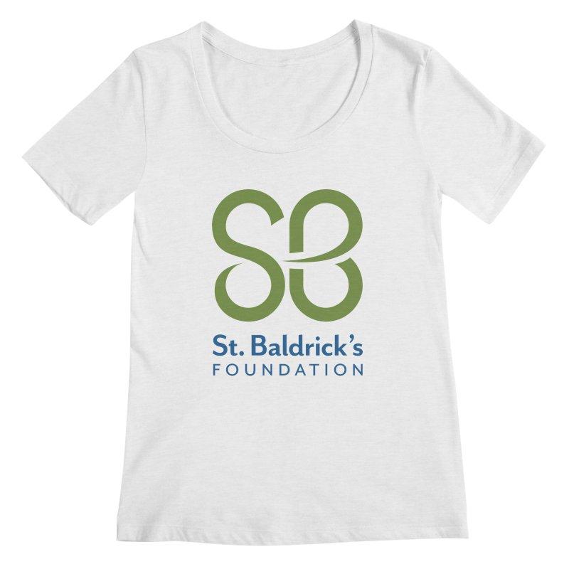 Stacked Logo Women's Regular Scoop Neck by St Baldricks's Artist Shop