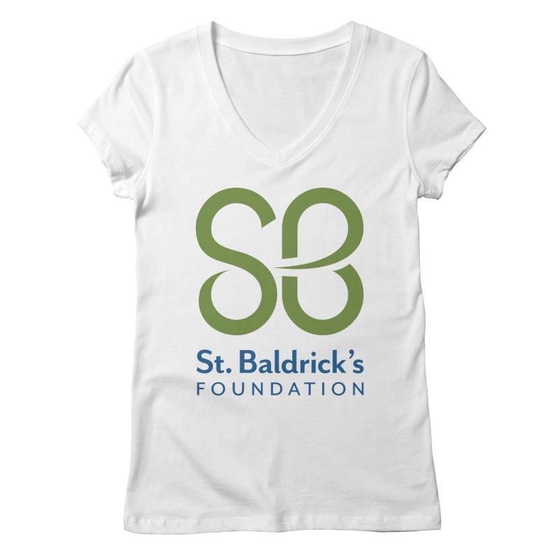 Stacked Logo Women's Regular V-Neck by St Baldricks's Artist Shop