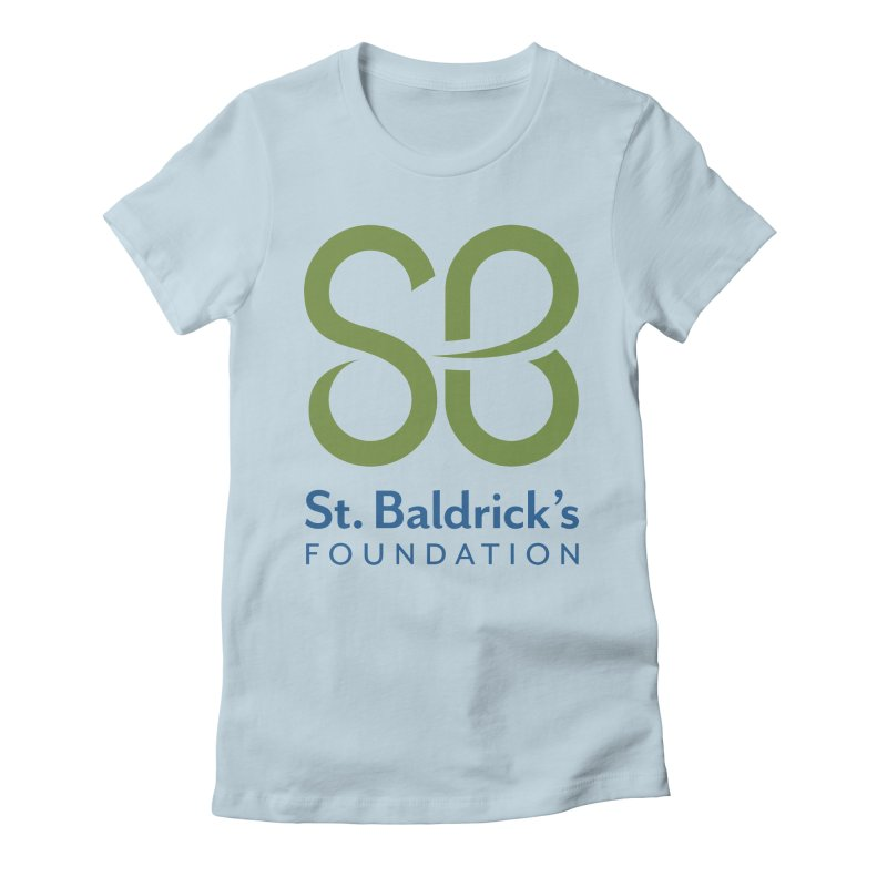 Stacked Logo Women's Fitted T-Shirt by St Baldricks's Artist Shop