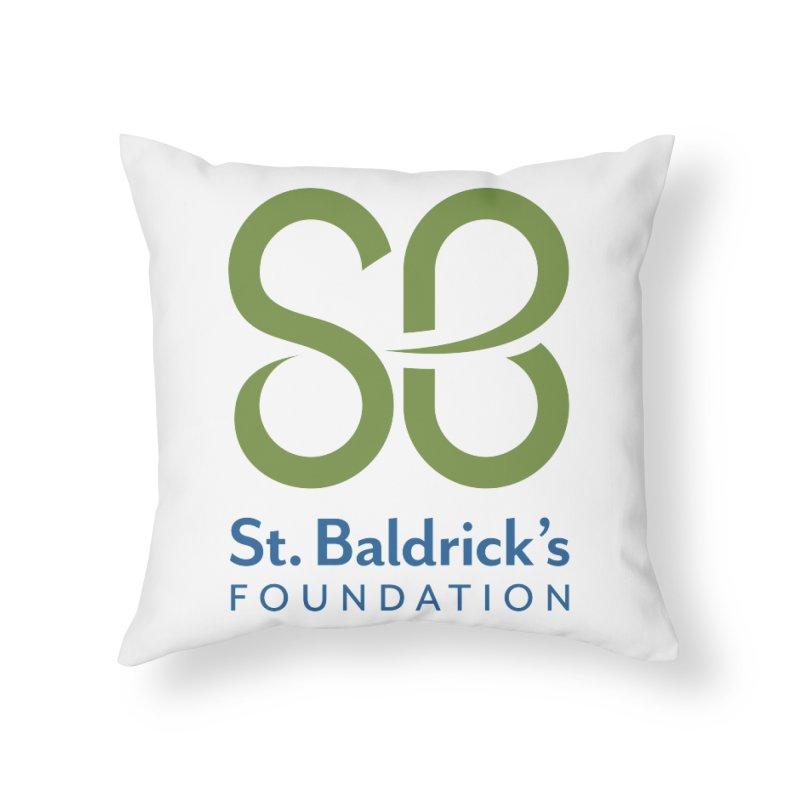 Stacked Logo Home Throw Pillow by St Baldricks's Artist Shop