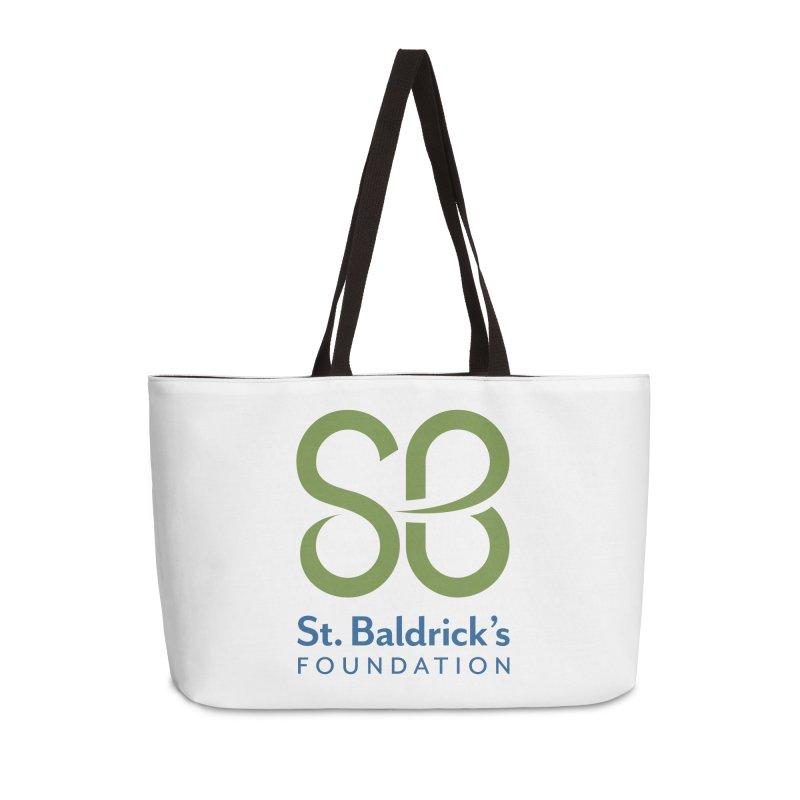 Stacked Logo Accessories Weekender Bag Bag by St Baldricks's Artist Shop