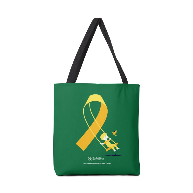 Hope and Happiness - Let's Take Childhood Back From Cancer in Tote Bag by St Baldricks's Artist Shop