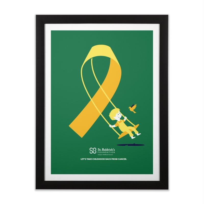 Hope and Happiness - Let's Take Childhood Back From Cancer Home Framed Fine Art Print by St Baldricks's Artist Shop