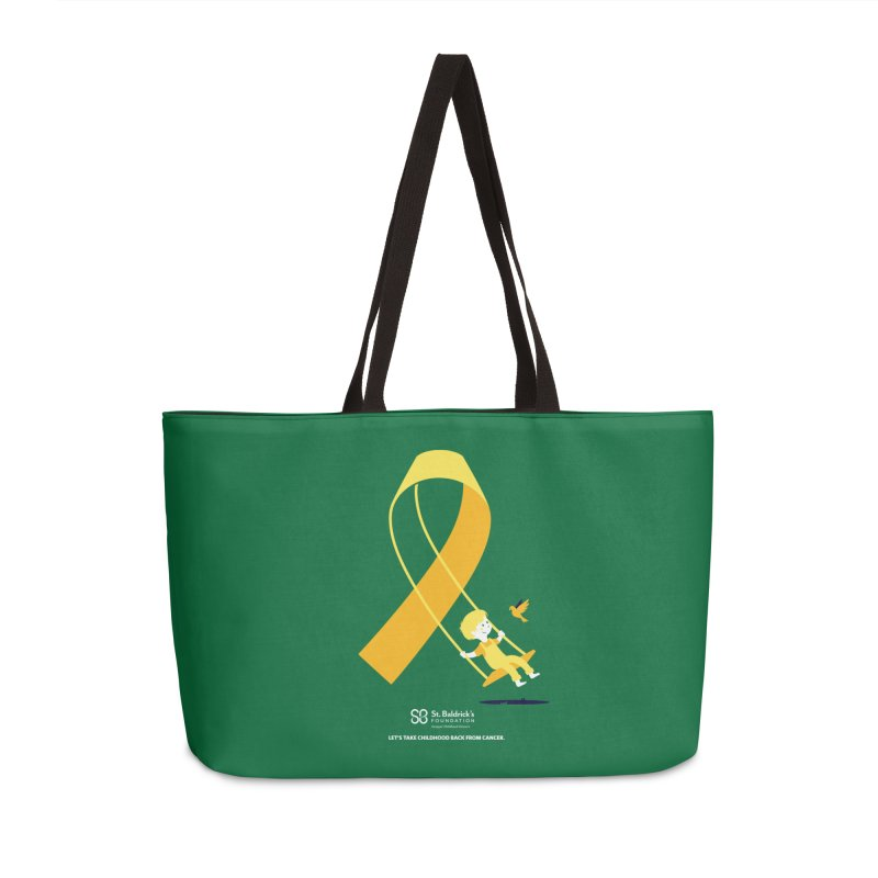 Hope and Happiness - Let's Take Childhood Back From Cancer Accessories Weekender Bag Bag by St Baldricks's Artist Shop