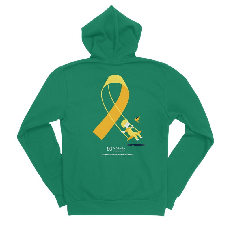 Hope and Happiness - Let's Take Childhood Back From Cancer Men's Sponge Fleece Zip-Up Hoody by St Baldricks's Artist Shop