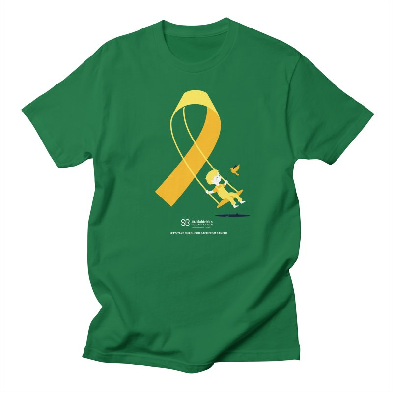 Hope and Happiness - Let's Take Childhood Back From Cancer in Men's Regular T-Shirt Kelly Green by St Baldricks's Artist Shop