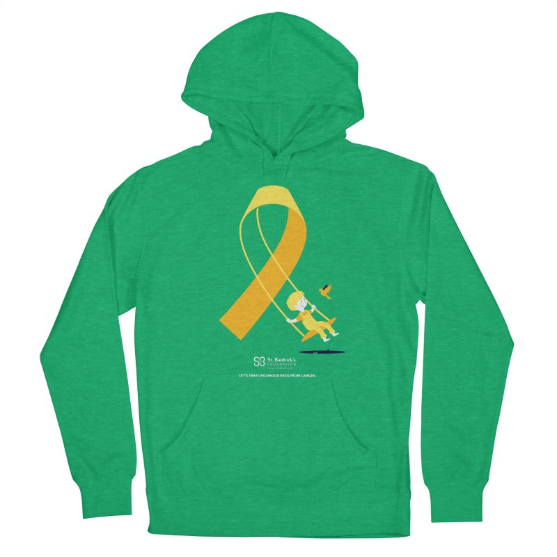 Hope and Happiness - Let's Take Childhood Back From Cancer Men's French Terry Pullover Hoody by St Baldricks's Artist Shop