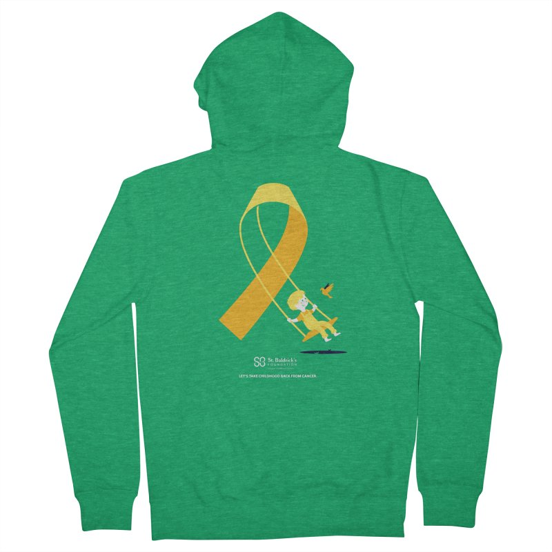 Hope and Happiness - Let's Take Childhood Back From Cancer Women's French Terry Zip-Up Hoody by St Baldricks's Artist Shop