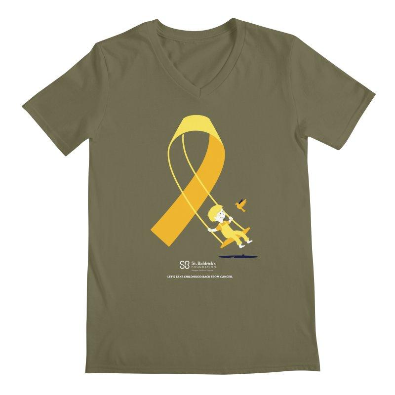Hope and Happiness - Let's Take Childhood Back From Cancer Men's Regular V-Neck by St Baldricks's Artist Shop
