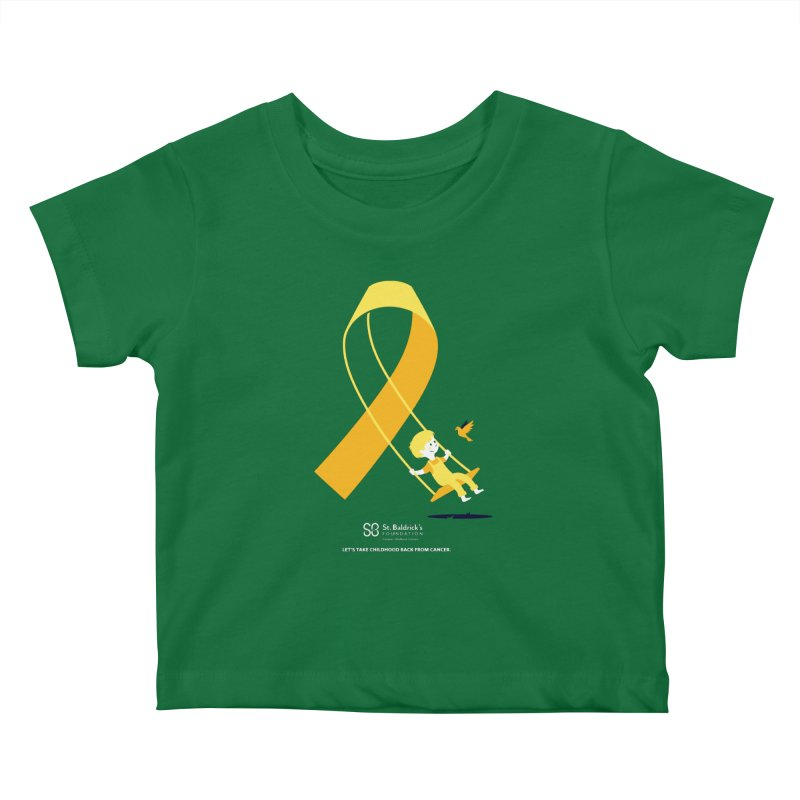 Hope and Happiness - Let's Take Childhood Back From Cancer Kids Baby T-Shirt by St Baldricks's Artist Shop
