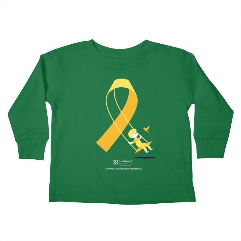 Hope and Happiness - Let's Take Childhood Back From Cancer Kids Toddler Longsleeve T-Shirt by St Baldricks's Artist Shop