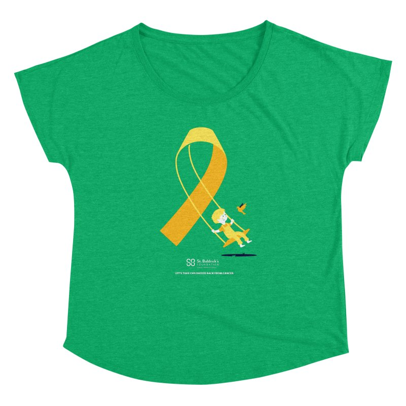 Hope and Happiness - Let's Take Childhood Back From Cancer Women's Dolman Scoop Neck by St Baldricks's Artist Shop