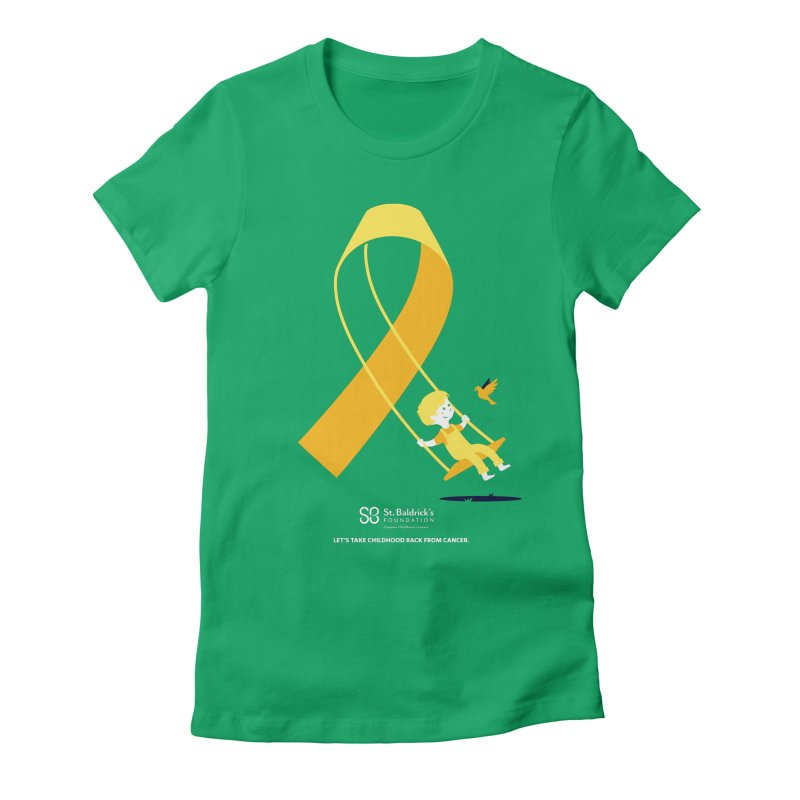 Hope and Happiness - Let's Take Childhood Back From Cancer Women's Fitted T-Shirt by St Baldricks's Artist Shop