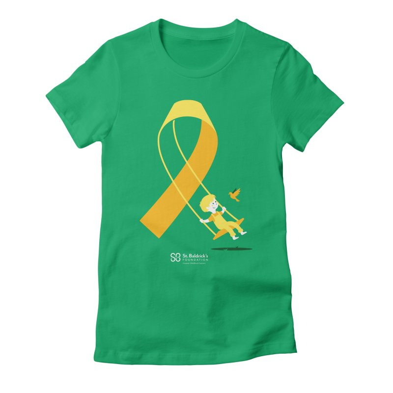Hope & Happiness in Women's Fitted T-Shirt Kelly by St Baldricks's Artist Shop