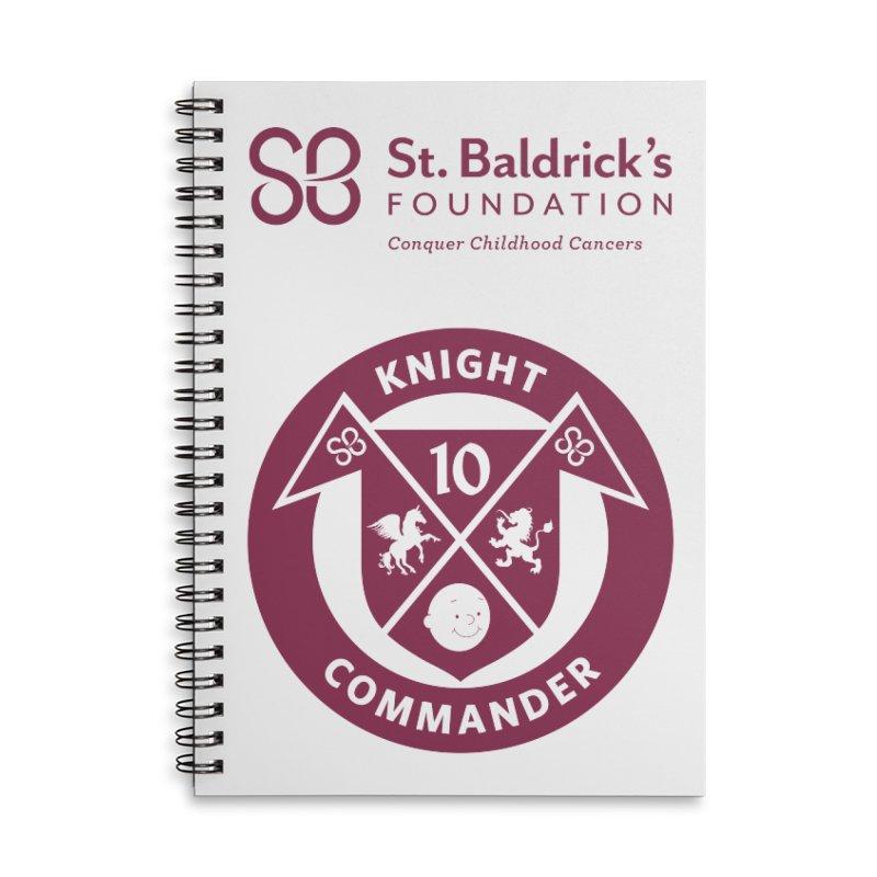 Knight Commander Accessories Lined Spiral Notebook by St Baldricks's Artist Shop