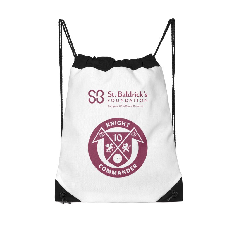 Knight Commander Accessories Drawstring Bag Bag by St Baldricks's Artist Shop