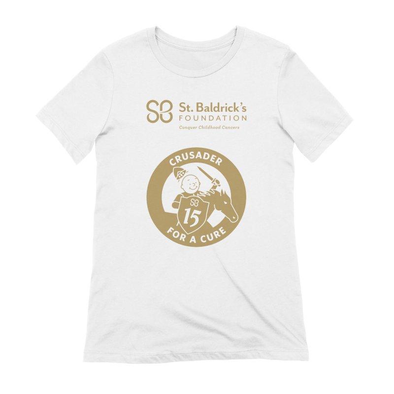 Crusader For a Cure Women's Extra Soft T-Shirt by St Baldricks's Artist Shop