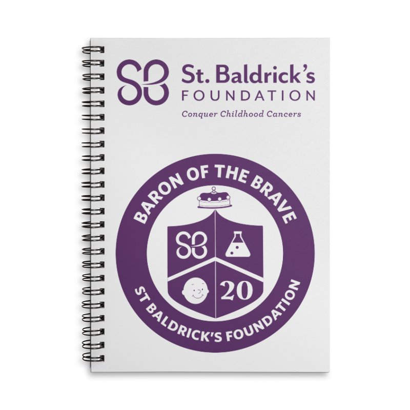 Baron of the Brave Accessories Lined Spiral Notebook by St Baldricks's Artist Shop