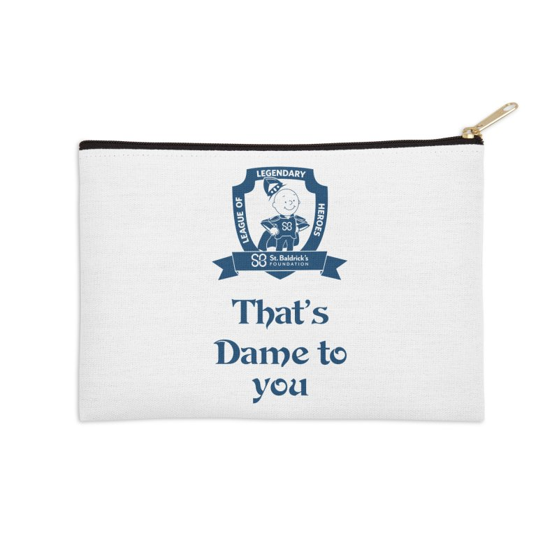 Dame to you Accessories Zip Pouch by St Baldricks's Artist Shop