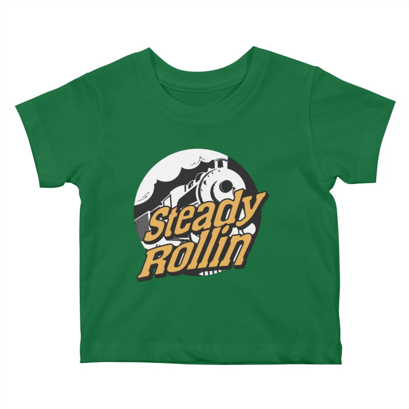 Steady Rollin - F.S.A. Collection (full steam ahead) Kids Baby T-Shirt by Steady Rollin Merch