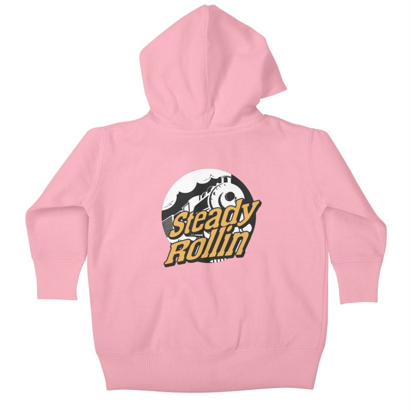 Steady Rollin - F.S.A. Collection (full steam ahead) Kids Baby Zip-Up Hoody by Steady Rollin Merch