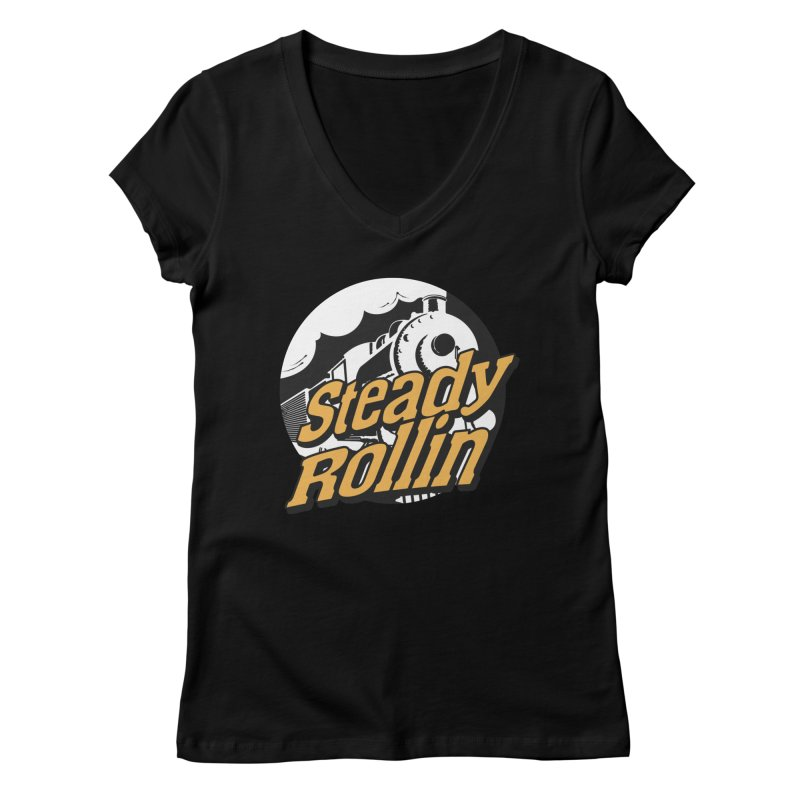 Steady Rollin - F.S.A. Collection (full steam ahead) Women's V-Neck by Steady Rollin Merch