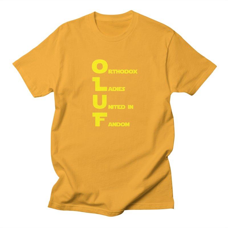 OLUF Star Wars Logo 1 Men's Regular T-Shirt by SteampunkEngineer's Shop