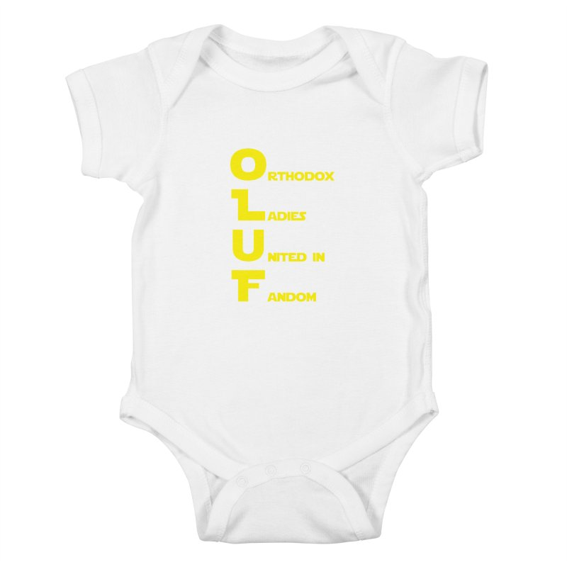 OLUF Star Wars Logo 1 Kids Baby Bodysuit by SteampunkEngineer's Shop