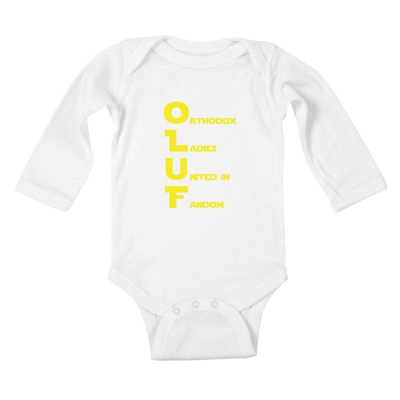 OLUF Star Wars Logo 1 Kids Baby Longsleeve Bodysuit by SteampunkEngineer's Shop