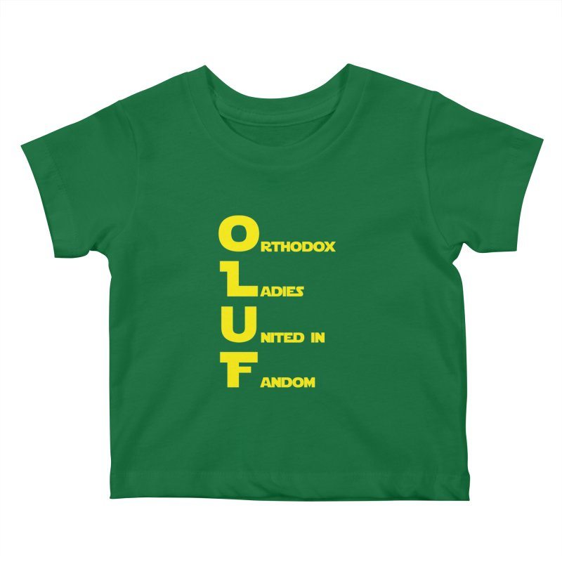 OLUF Star Wars Logo 1 Kids Baby T-Shirt by SteampunkEngineer's Shop