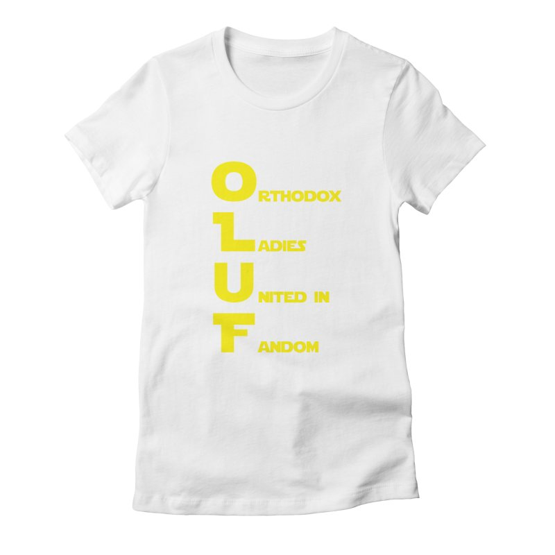 OLUF Star Wars Logo 1 Women's Fitted T-Shirt by SteampunkEngineer's Shop