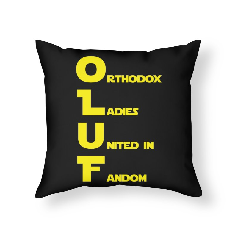 OLUF Star Wars Logo 1 Home Throw Pillow by SteampunkEngineer's Shop