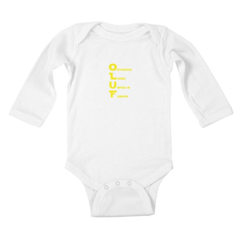 OLUF Star Wars Logo 2 Kids Baby Longsleeve Bodysuit by SteampunkEngineer's Shop