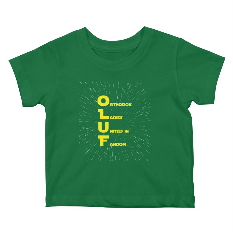 OLUF Star Wars Logo 2 Kids Baby T-Shirt by SteampunkEngineer's Shop