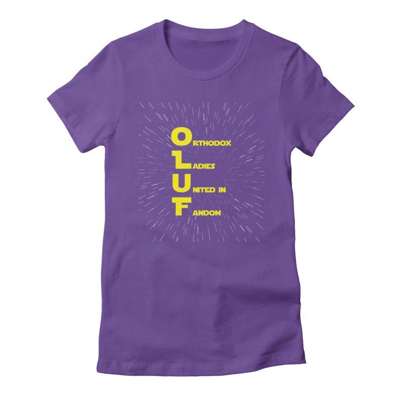 OLUF Star Wars Logo 2 Women's Fitted T-Shirt by SteampunkEngineer's Shop