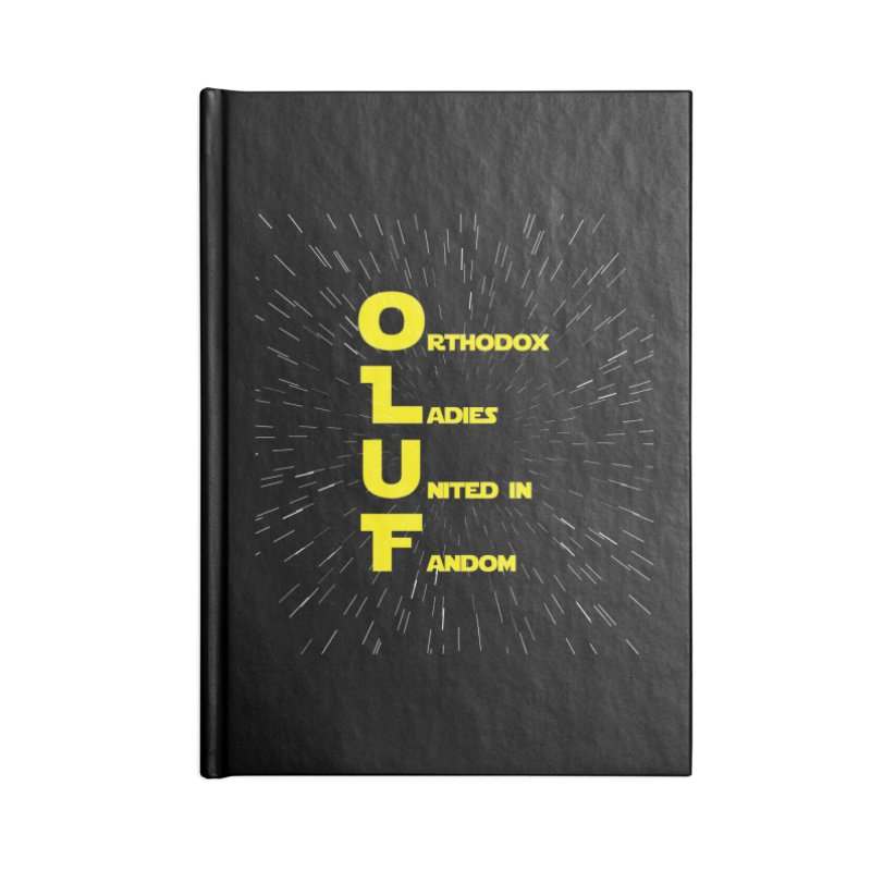 OLUF Star Wars Logo 2 Accessories Blank Journal Notebook by SteampunkEngineer's Shop