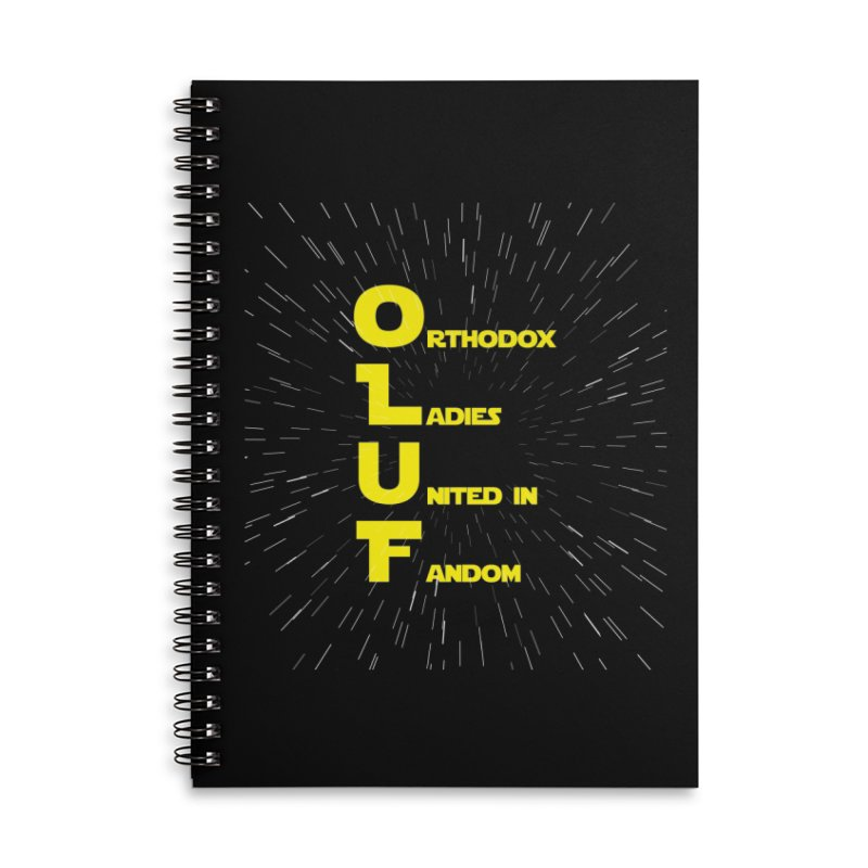 OLUF Star Wars Logo 2 Accessories Lined Spiral Notebook by SteampunkEngineer's Shop