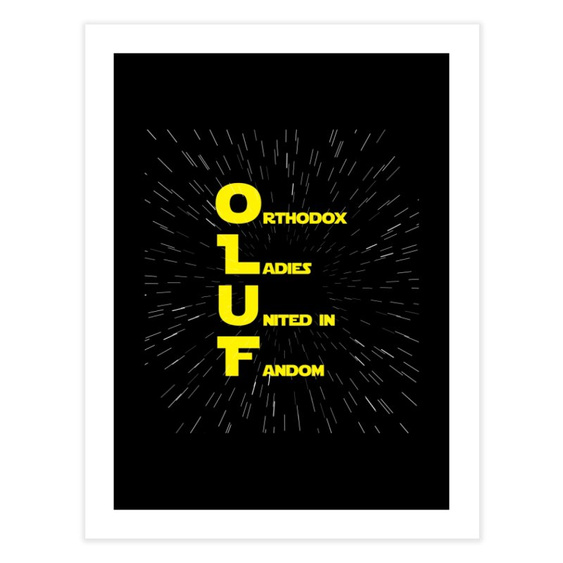 OLUF Star Wars Logo 2 Home Fine Art Print by SteampunkEngineer's Shop