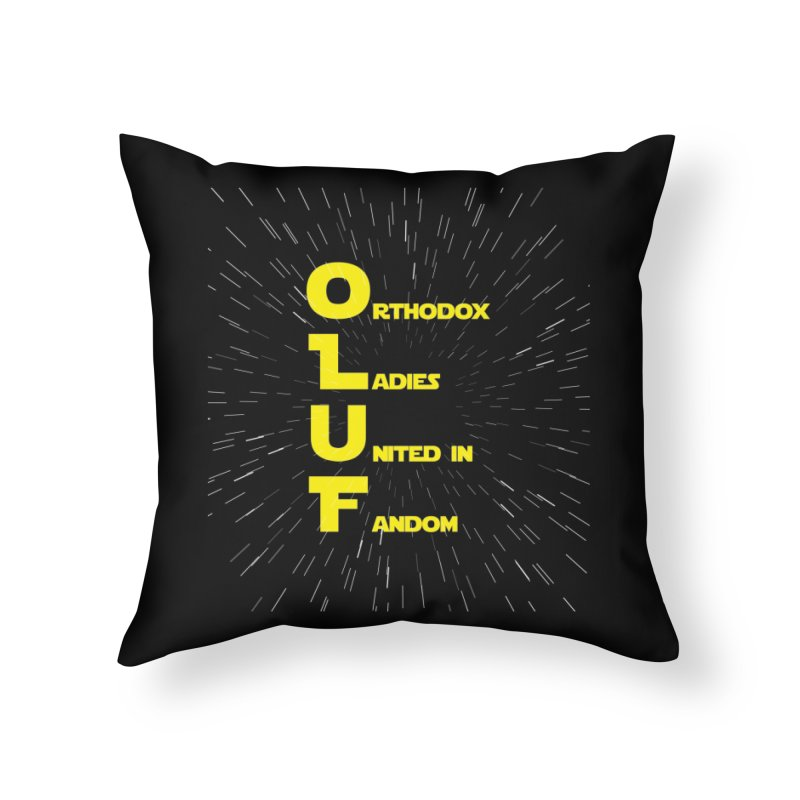 OLUF Star Wars Logo 2 Home Throw Pillow by SteampunkEngineer's Shop