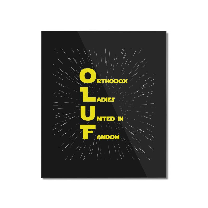 OLUF Star Wars Logo 2 Home Mounted Acrylic Print by SteampunkEngineer's Shop