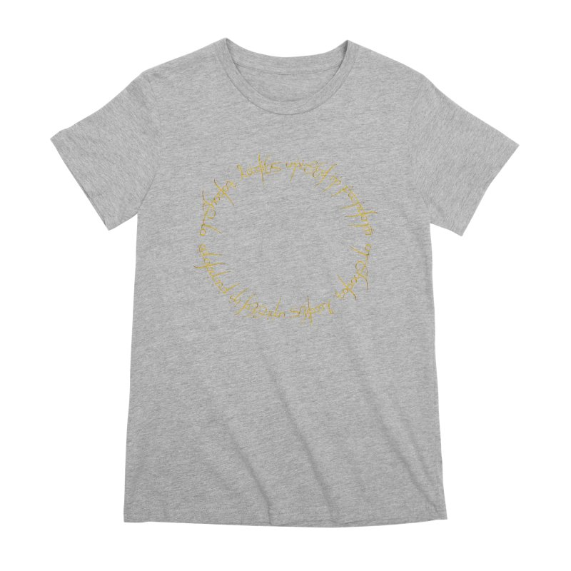 OLUF Lord of the Rings Logo 1 Women's Premium T-Shirt by SteampunkEngineer's Shop