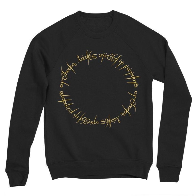 OLUF Lord of the Rings Logo 1 Men's Sponge Fleece Sweatshirt by SteampunkEngineer's Shop