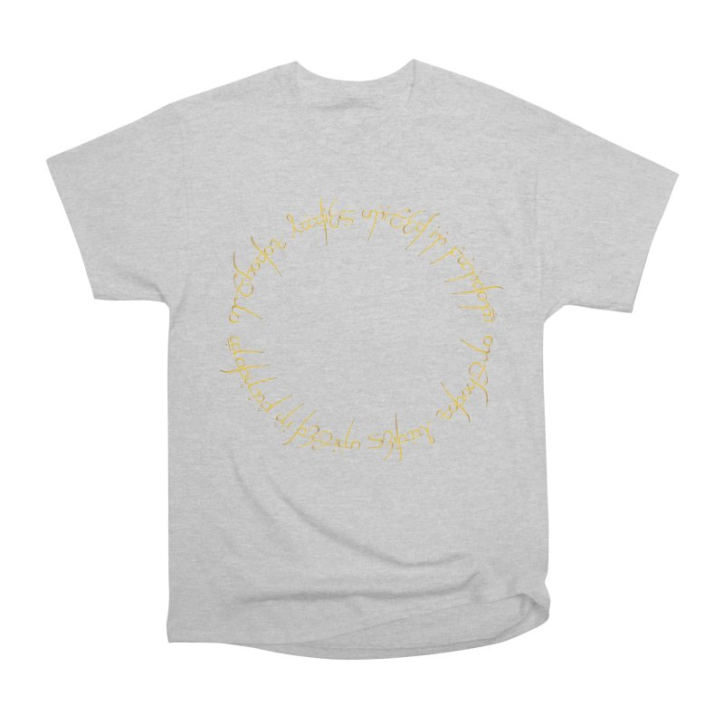 OLUF Lord of the Rings Logo 1 Men's Heavyweight T-Shirt by SteampunkEngineer's Shop