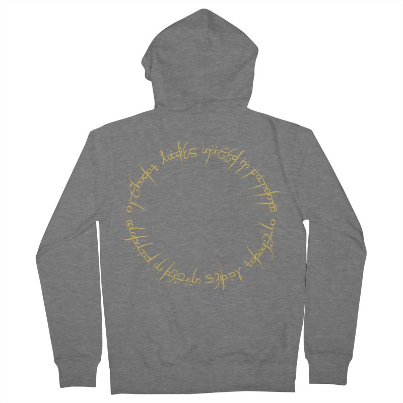 OLUF Lord of the Rings Logo 1 Women's French Terry Zip-Up Hoody by SteampunkEngineer's Shop