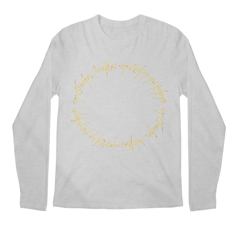 OLUF Lord of the Rings Logo 1 Men's Regular Longsleeve T-Shirt by SteampunkEngineer's Shop
