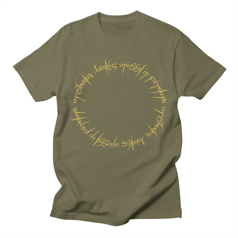 OLUF Lord of the Rings Logo 1 Men's T-Shirt by SteampunkEngineer's Shop