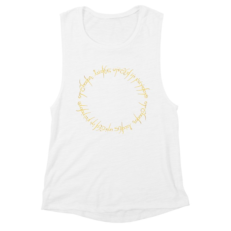 OLUF Lord of the Rings Logo 1 Women's Muscle Tank by SteampunkEngineer's Shop